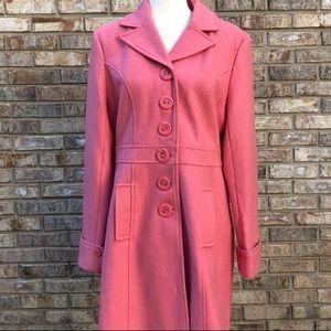 TULLE pink wool coat, juniors Sz XL
